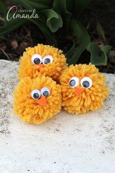 Pom Pom Chicks from