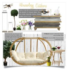 """Houseology Outdoors"" by doltshey ❤ liked on Polyvore featuring interior, interiors, interior design, home, home decor, interior decorating, NLXL, Brucs, Amazonas and LSA International"