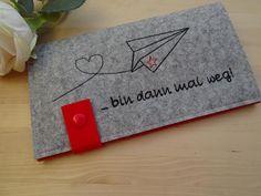 Taschenorganizer - Reise-Etui - Dokumentenmappe ♥ Papierflieger ♥ - ein Designerstück von JuniEngel- bei DaWanda