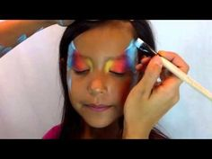 ▶ Quick Butterfly Face Painting - YouTube