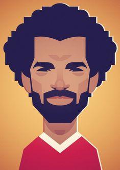 Stanley Chow, Mo Salah, Mohamed Salah, Liverpool Fc, Caricature, Cartoon, Comics, Ps, Illustration