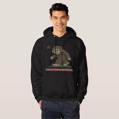 California Republic Sasquatch Bigfoot Flag Hoodie - diy cyo personalize design idea new special custom