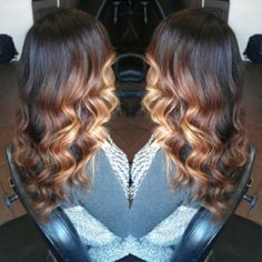 Nice #ombre #colormelt and curls