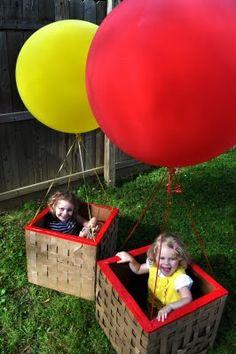 Hot air balloon cardboard box