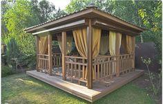 Best Pergola and Pavilion Design Ideas for Your Backyard Backyard Pavilion, Outdoor Pavilion, Backyard Gazebo, Garden Gazebo, Pergola Patio, Outdoor Seating, Outdoor Spaces, Outdoor Living, Pergola Designs