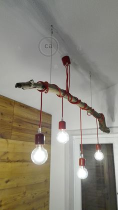 Amazing project made by using our red fabric cable and our red lamp holders! www.creative-cables.us