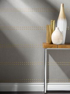 "Love the ""hand-dipped"" white bisque vase.  Studs & Stripes - Horizontal"