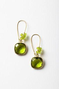 chartreuse earrings