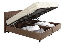 Κρεβάτι με κεφαλάρι και αποθηκευτικό χώρο Nina