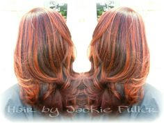 Red balayage by Jackie
