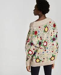 Risultati immagini per zara floral embroidered sweater
