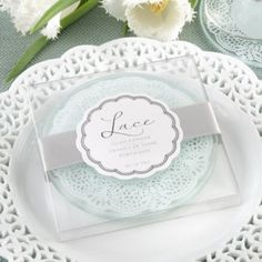 Bridesmaid Boutique by Kate Aspen Lace Exquisite Frosted-Glass Coasters Wedding Favors And Gifts, Party Favors, Bride Gifts, Party Gifts, Photo Coasters, Glass Coasters, Diy Wedding, Wedding Day, Elegant Wedding