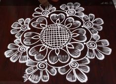 Simple Rangoli Border Designs, Indian Rangoli Designs, Rangoli Designs Latest, Rangoli Designs Flower, Free Hand Rangoli Design, Small Rangoli Design, Rangoli Patterns, Rangoli Ideas, Rangoli Designs Images
