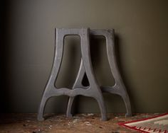 vintage industrial metal table legs 1930u0027s by