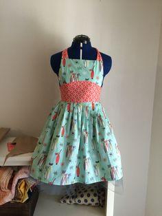 A retro custom made BlueBox wardrobe apron