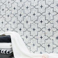 Artisan handcrafted beauty of a tile. This is the all new  Alcazar Carrara! #new #carrara #handcrafted #details #artisan #mosaic #pattern #interiors #design #inspo #interiordesign #homedecor #houzz #architecture #art #hgtv #marble #naturalstone #luxury #installshot #tileaddiction #tilehighclub #tilebar #tiles #yearofthetile #tile #instagood #decor #mosaic @inspire_me_home_decor @tileaddiction by tilebar