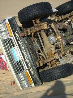 Oeps car crash in Siwa desert