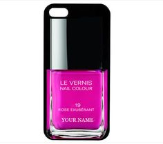 Love this! So fun!  PERSONALIZED iphone 5 4 case cover nail polish!!!