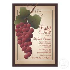 Winery Wedding Invitations Old World Tuscan Grapevine Wine Bridal Shower Card Winery Wedding Invitations, Bridal Shower Invitations, Custom Invitations, Party Invitations, Invites, Bridal Shower Wine, Bridal Shower Cards, Wine Tasting Party, Wine Parties