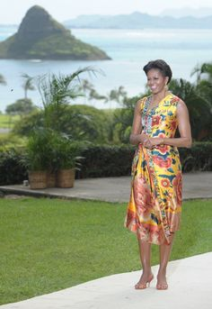 On This Day: First Lady Michelle Obama hosts the Asia-Pacific Economic Cooperation (APEC) leaders' spouses luncheon at Kualoa Ranch in Ka'a'awa on the island of Oahu in Hawaii on November 13, 2011 11/13/15 TOD
