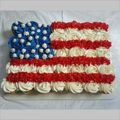 July 4th / Labor Day cupcakes