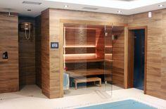 Sauna Best Line w wersji Thermo. Wellness Spa, Divider, Room, Furniture, Design, Home Decor, Arquitetura, Bedroom, Decoration Home