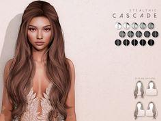 Blender Hair, Sims 4 Piercings, Pelo Sims, Hair Illustration, Sims Four, Tight Curls, Sims 4 Game, Half Updo, Sims 4 Clothing