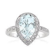 The ring I want...except instead of the diamonds surrounding I want Tanzanite.  Aquamarine and Tanzanite...our birthstones :)