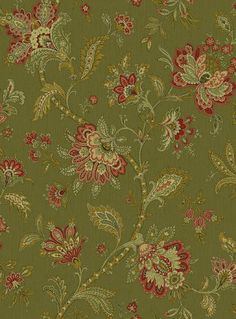 Vtg Upholstery Fabric Textile Gabrielle Jacobean Floral