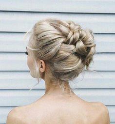 Braided bun prom hairstyle | LiverpoolGirl via Wheretoget