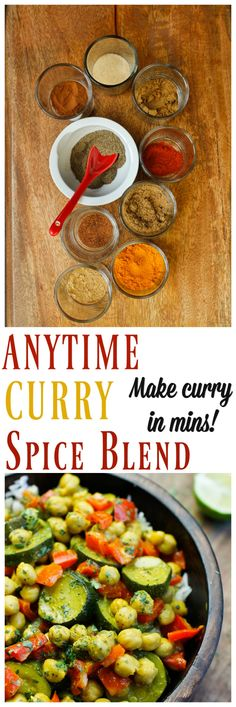 This Anytime Curry Spice blend is just what we all need to have curry anytime we want quick and fast and without having to measure each ingredient when that curry craving hits. Keep it store in your pantry and add it to veggie and plant milk and in less than 30 minutes you will have a delicious homemade vegan curry! via @thevegan8
