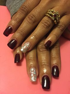 Gel Nails with encapsulated nail foils!