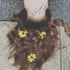 The joy of having flowers in your hair!