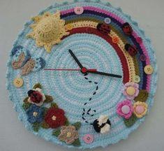 Relojes de pared a crochet: fotos ideas  (11/25) | Ellahoy