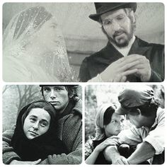 Chava Tzeitel And Hodel In The Wedding Scene Of The Film