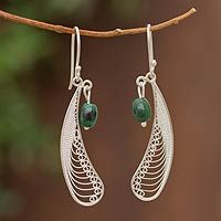 Chrysocolla dangle earrings, 'Filigree Enchantment' from @NOVICA, They help #artisans succeed worldwide.