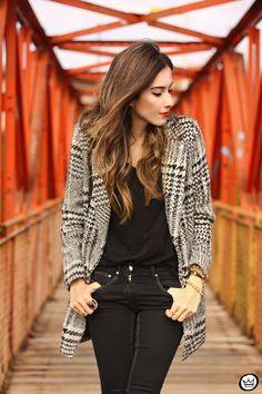 FashionCoolture - 06/27/2015 look du jour Chicwish pied de poule plaid black and white prints (2)