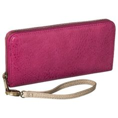 I'm learning all about Merona Phone Case Wallet with Removable Wristlet Strap - Pink at @Influenster!