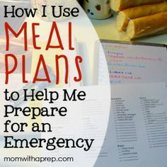 Build a Better Pantry: How I use Meal Plans to help stock my pantry for emergencies {Mom with a Prep}