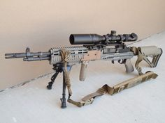 Big uploaded this image to Mod 1 EBR'. See the album on Photobucket. Weapons Guns, Military Weapons, Guns And Ammo, Tactical Rifles, Firearms, Sniper Rifles, Shotguns, Battle Rifle, Long Rifle