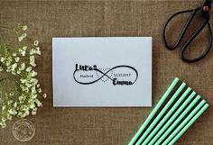 Einladungskarten - Hochzeit Stempel - Unendlichkeit sc019 - ein Designerstück von Waine bei DaWanda