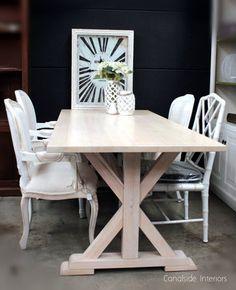 *Lyon Dining Table - Limewash - Custom Sizes - Canalside Interiors