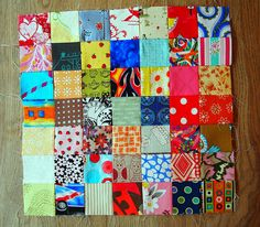 Scrap Vomit quilt, must make one!  Block A by ImAGingerMonkey, via Flickr