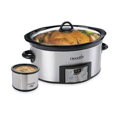 Crock-Pot® Stainless Steel 6-Quart Countdown Oval Slow Cooker with Dipper - Bed Bath & Beyond