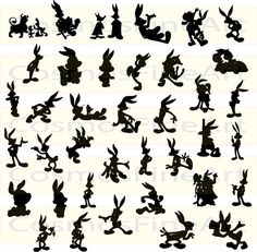 Bugs bunny silhouette digital clipart 38 PNG 38 by CosmosFineArt