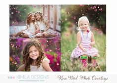 Kimla Designs & Photography: New Rose Petal Photo Overlays for Photography | Bundle Pack + FREE Bubble & Rainbows | Freebie Fairy Dust Overlay | photography design | kimla designs