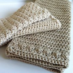 Crochet Bathroom Set / Washcloth / Guest Towel / by LittleConkers etsy download