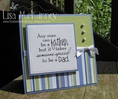 CAS Father's Day In Green/Blue by lisabeepianolovin - Cards and Paper Crafts at Splitcoaststampers