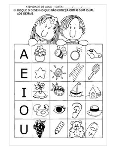 exercícios com vogais Bilingual Classroom, Bilingual Education, Education English, Kids Education, Spanish Lessons, Teaching Spanish, Alphabet Activities, Preschool Activities, School Worksheets