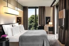 Discover luxury hotel offers designed to enhance your stay at Bvlgari Hotel Milano, one of the most exclusive Milan hotels located near Via Montenapoleone. Bulgari Hotel Milan, Bvlgari Hotel, Milan Hotel, Resorts, Superior Room, Hotel Room Design, Floor To Ceiling Windows, Elegant, Inspiration